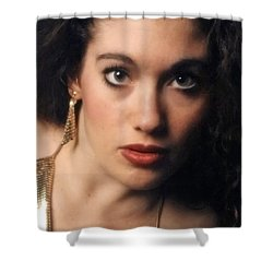 Original Used For Self Portrait  Shower Curtain by Teri Schuster