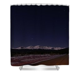 Orion's Descent Shower Curtain by Jeremy Rhoades