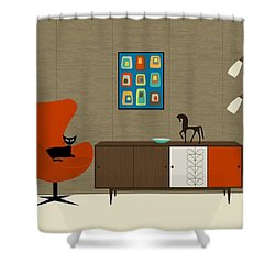 Orla Kiely Cabinet Shower Curtain by Donna Mibus