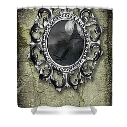 Ornate Metal Mirror Reflecting Church Shower Curtain by Amanda And Christopher Elwell