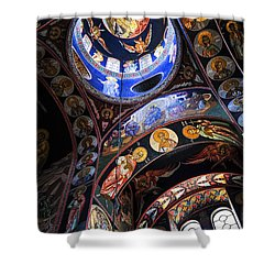 Orthodox Church Interior Shower Curtain by Elena Elisseeva