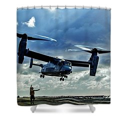 Osprey Approach Shower Curtain by Benjamin Yeager