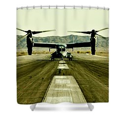 Osprey Takeoff Shower Curtain by Benjamin Yeager