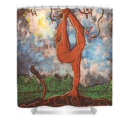Our Dance With Nature Shower Curtain by Stefan Duncan