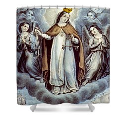 Our Lady Of Mercy Circa 1856  Shower Curtain by Aged Pixel