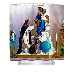 Our Lady Of Peace Shower Curtain by Karon Melillo DeVega