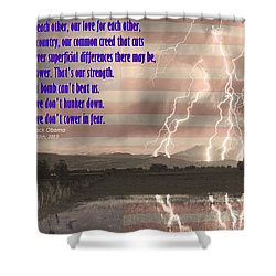 Our Love For Country Shower Curtain by James BO  Insogna