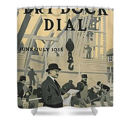Our New Dry Dock Shower Curtain by Edward Hopper