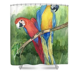 Out For Lunch In The Wild Shower Curtain by Maria Hunt