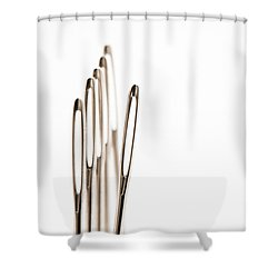 Out Of Line Shower Curtain by Anne Gilbert