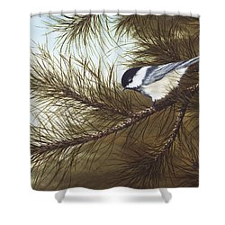 Out On A Limb Shower Curtain by Rick Bainbridge