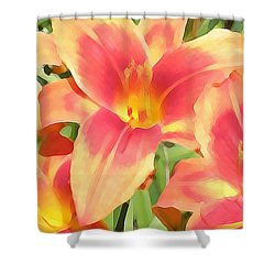 Outrageous Lilies Shower Curtain by Jean Hall