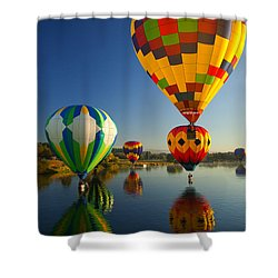Over The Water Shower Curtain by Mike  Dawson