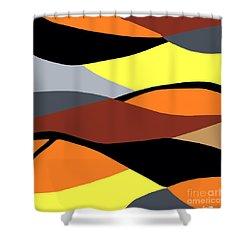 Overlap Shower Curtain by Eloise Schneider