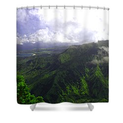 Overlooking Hanalei Bay Shower Curtain by Brian Harig
