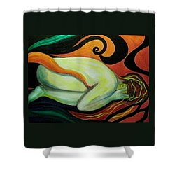 Overwhelmed Shower Curtain by Carolyn LeGrand