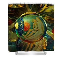 Ovule Of Eden  Shower Curtain by Robin Moline