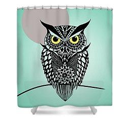 Owl 5 Shower Curtain by Mark Ashkenazi