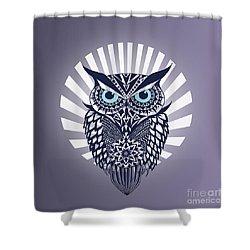 Owl Shower Curtain by Mark Ashkenazi