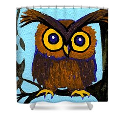 Owlette Shower Curtain by Genevieve Esson