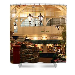 Oxford's Covered Market Shower Curtain by Terri Waters