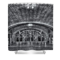 Oyster Bar Restaurant II Shower Curtain by Clarence Holmes