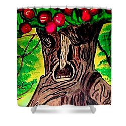 Oz Grumpy Apple Tree Shower Curtain by Jo-Ann Hayden