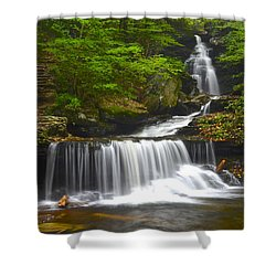 Ozone Falls Shower Curtain by Frozen in Time Fine Art Photography