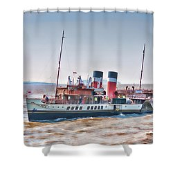 Paddle Steamer Waverley Shower Curtain by Steve Purnell