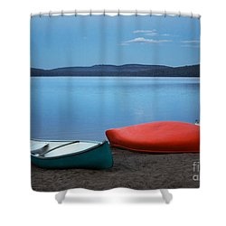 Paddle's End Shower Curtain by Barbara McMahon