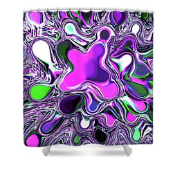 Paint Ball Color Explosion Purple Shower Curtain by Andee Design