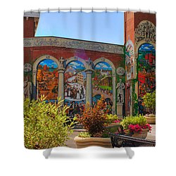 Painted History 4 Shower Curtain by Joann Vitali