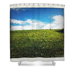 Painted Sky Shower Curtain by Linda Woods