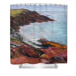Painterly - Bold Seascape Shower Curtain by Quin Sweetman
