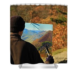Painting Shenandoah Shower Curtain by Dan Sproul