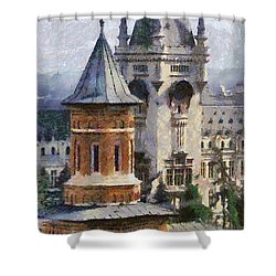 Palace Of Culture Shower Curtain by Jeff Kolker
