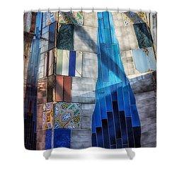 Palau Guell Shower Curtain by Joan Carroll