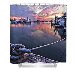 Palm Beach Harbor Shower Curtain by Debra and Dave Vanderlaan