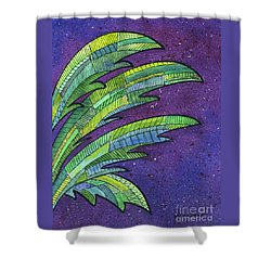 Palms Against The Night Sky Shower Curtain by Diane Thornton