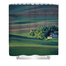 Palouse - Washington - Farms - #3 Shower Curtain by Nikolyn McDonald