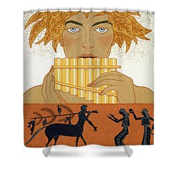 Pan Piper Shower Curtain by Georges Barbier