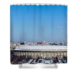 Panorama Of Moscow From Sparrow Hills - Featured 3 Shower Curtain by Alexander Senin