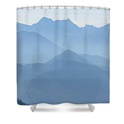 Panorama View Of The Bavarian Alps Shower Curtain by Rudi Prott