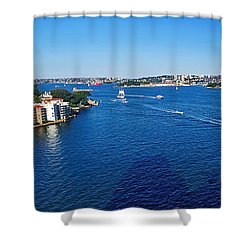 Panoramic Sydney Harbour Shower Curtain by Kaye Menner