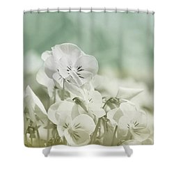 Pansy Flowers Shower Curtain by Kim Hojnacki