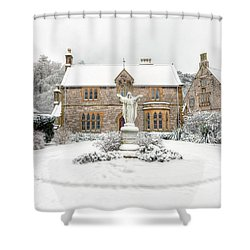 Pantasaph Friary Shower Curtain by Adrian Evans