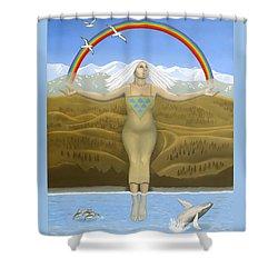 Papatuanuku / Capricorn Shower Curtain by Karen MacKenzie