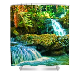 Paradise Found Shower Curtain by Michael Pickett