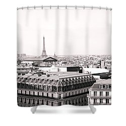 Paris In The Afternoon Shower Curtain by Vivienne Gucwa