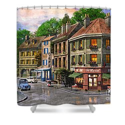 Paris Street Shower Curtain by Dominic Davison